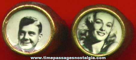 (2) 1950's Television / Movie Star Real Photo Toy Rings