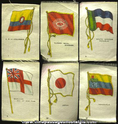 (6) Old Flag Tobacco Silk Premiums
