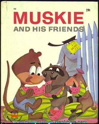 """©1963 Wonder Book Entitled: """"MUSKIE AND HIS FRIENDS"""""""