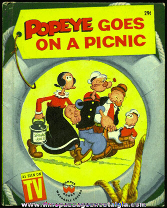 "�1958 ""POPEYE GOES ON A PICNIC"" Wonder Book"