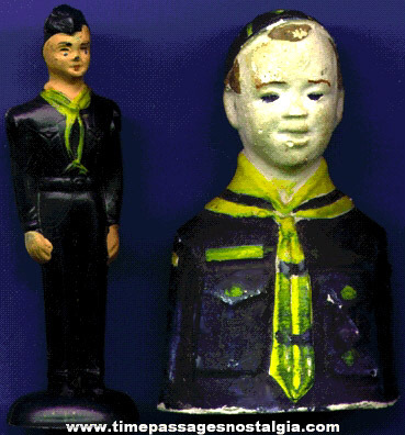 (2) Different Old Boy Scout & Cub Scout Figures