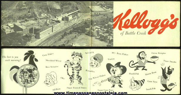 1950's Kellogg's Cereal Factory Booklet