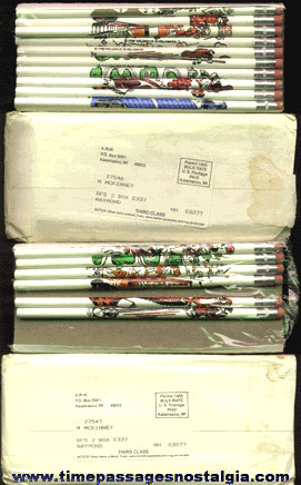(16) 1980 Kellogg's Cereal Advertising Character Premium Pencils With Mailers