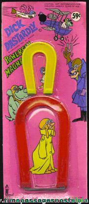 Unopened 1973 Dick Dastardly Magnet Set