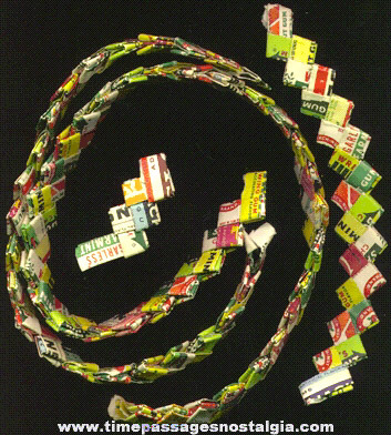 1950's Gum Wrapper Chain