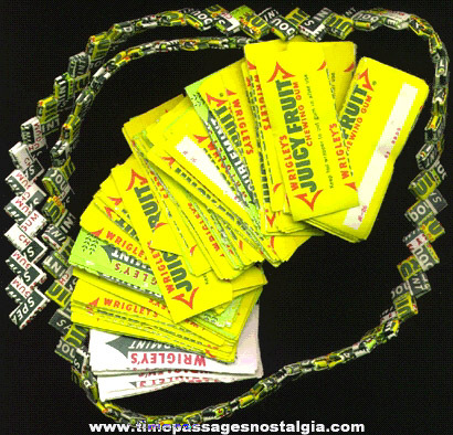 Wrigley's Gum Wrapper Chain With 257 More 1/2 Wrappers For Links
