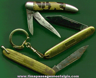 (3) Different Small Old Pocket Knives
