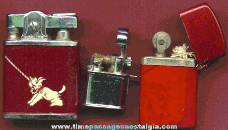 (3) Different Old Cigar Or Cigarette Lighters
