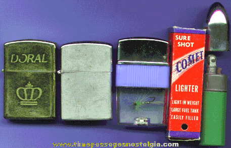 (4) Different Old Cigar Or Cigarette Lighters
