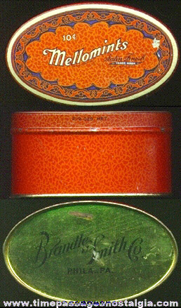 Old 10c MELLOMINTS Advertising Candy Tin