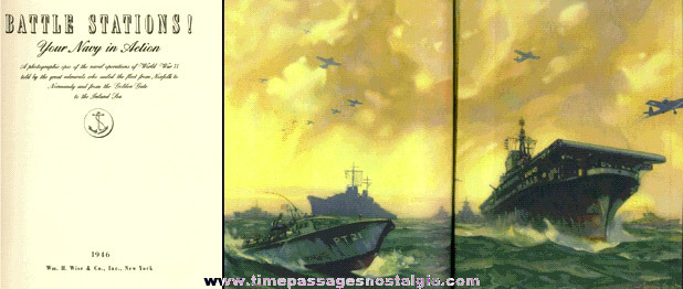 """1946 """"BATTLE STATIONS!"""" Your Navy In Action Book"""