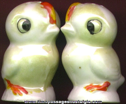OLD BABY CHICK SALT & PEPPER SHAKERS