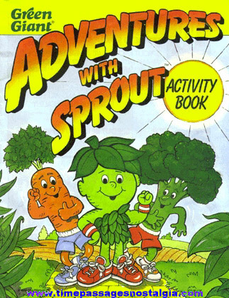 "�1990 Green Giant ""ADVENTURES WITH SPROUT"" Activity Book"