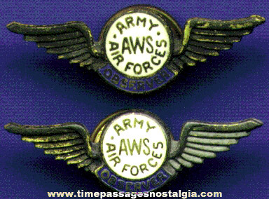 (2) Matching Old U.S. Army Air Forces Wings Pins