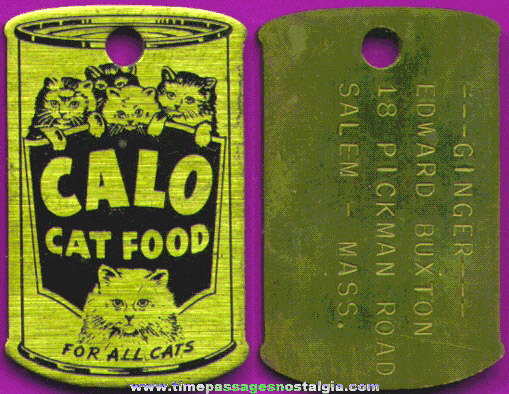Old CALO Cat Food Advertising Tag Or Key Chain Fob