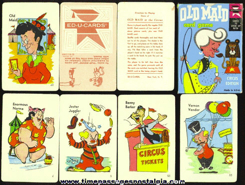 Boxed ©1959 Old Maid Card Game