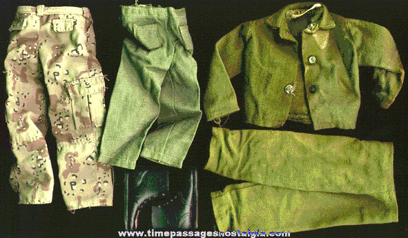 (6) Old GI Joe Uniform items
