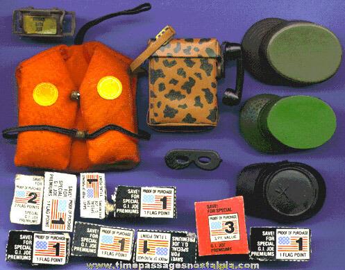 (16) Old GI Joe items
