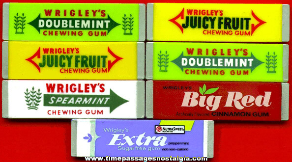 (7) Wrigley's Stick Gum Advertising Magnets