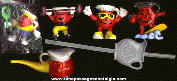 (6) Different Kool-Aid Advertising Character Items