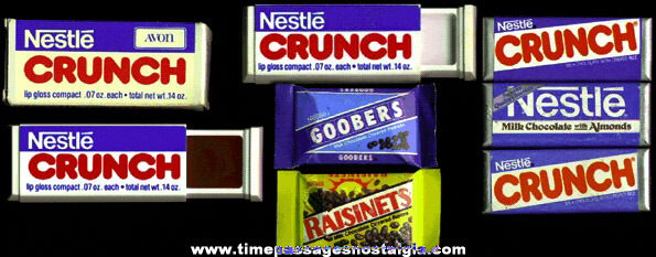 (7) Small Nestles Candy Advertising Items