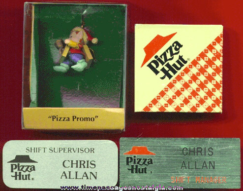 (4) Different PIZZA HUT Advertising Items