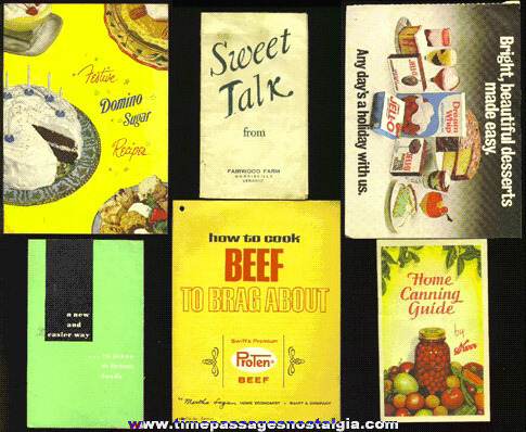 (6) Old Recipe & Advertising Booklets