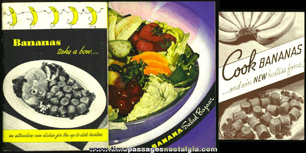 (3) Old Banana Recipe & Advertising Booklets