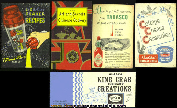 (5) Old Recipe & Advertising Booklets