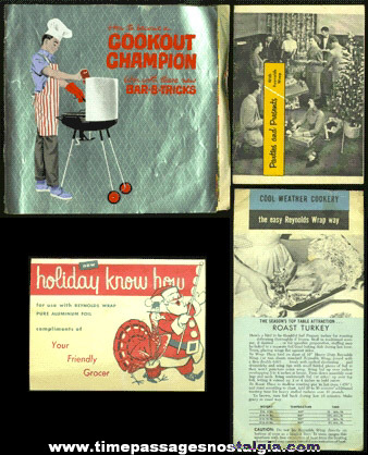 (4) Old Recipe & Advertising Booklets