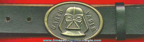 ©1980 STAR WARS - DARTH VADER Belt Buckle With Leather Belt