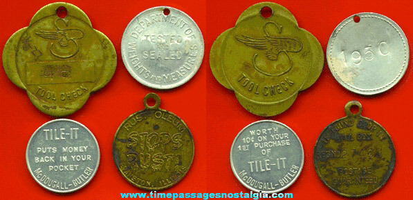 (4) Old Advertising Tokens