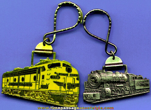 (2) Different Train Advertising Key Chains