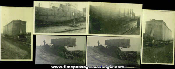 (6) Original 1919 Train Accident Photographs With Information