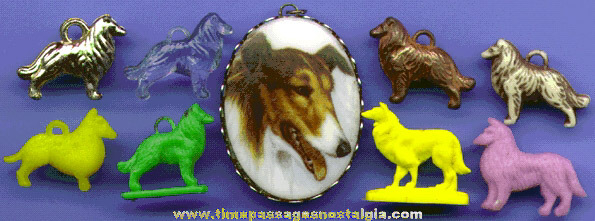 (9) Small Collie Dog Items