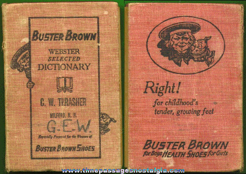 ©1923 BUSTER BROWN SHOES Advertising Premium Webster's Dictionary