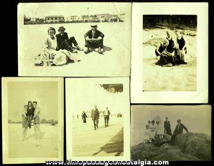 (5) 1920's Beach Photographs