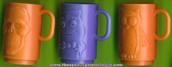 (3) Different General Mills Monster Cereal Premium / Prize Mini Cups
