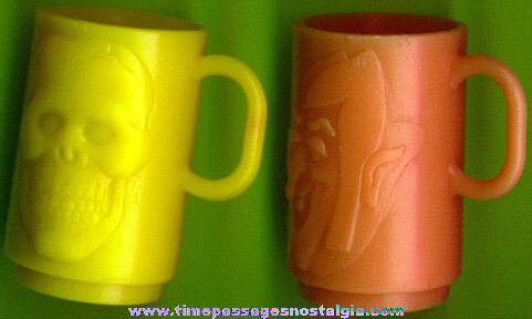 (2) Different General Mills Monster Cereal Premium / Prize Mini Cups