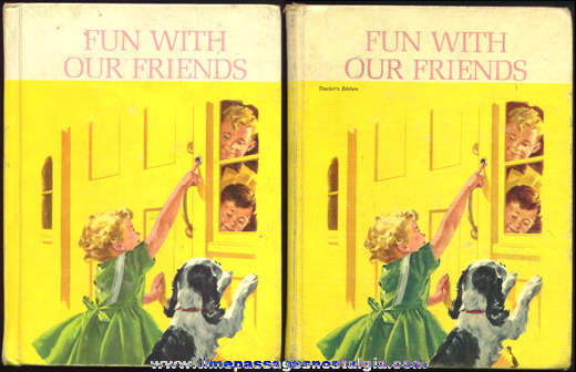 Pair Of ©1962 Basic Reader Books Regular & Teacher's Edition