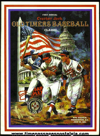 1982 First Annual Cracker Jack Old Timers Baseball Classic Porgram Book
