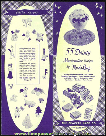 ©1950 Angelus Campfire & Recipe Marhmallows Advertising Premium Recipe Booklet