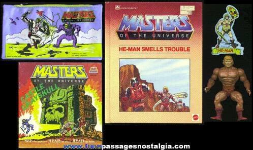 (5) HE-MAN MASTERS OF THE UNIVERSE Items