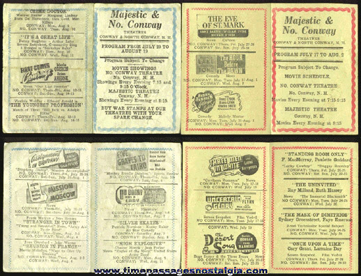 (4) 1940's New Hampshire Movie Theatre Programs