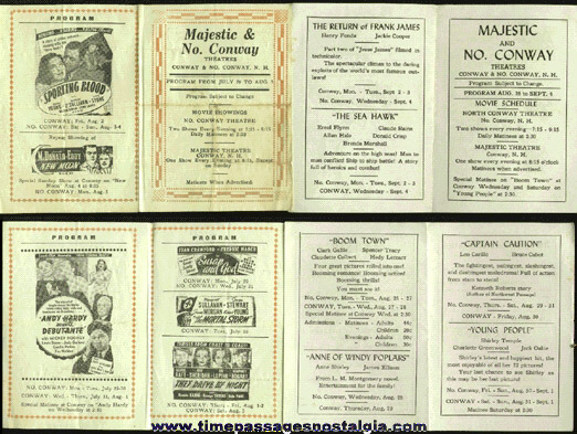 (4) 1940s Movie Theatre Programs