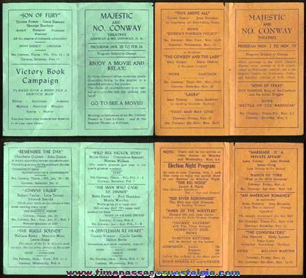(4) 1940's Movie Theatre Programs