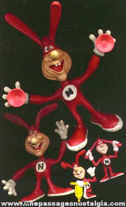 (4) Domino Pizza Noid Advertising Character Figures