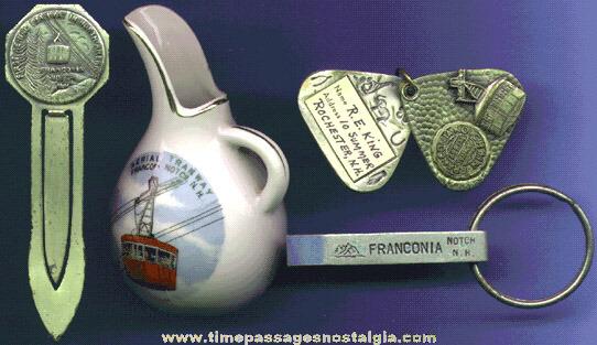 (4) Old Franconia Notch, White Mountains, N.H. Souvenir Items