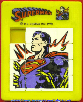 Colorful ©1978 Superman Character Slide Puzzle