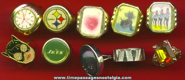 (10) Different Character, Premium, Prize, Toy Rings